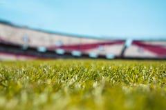 Van het de hoogtegras van het voetbalhof de close-up van de poollijnen royalty-vrije stock foto's