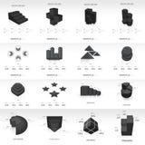Van het de informatie grafische malplaatje van het grafiekontwerp 3d zwarte kleur Stock Foto