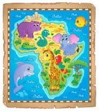 Van het de kaartthema van Afrika beeld 3 Stock Foto