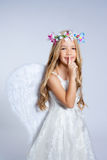 Van het de kinderenmeisje van de engel de slaapvinger Royalty-vrije Stock Afbeeldingen