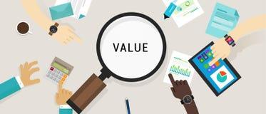 Van het de klantenconcept van het waardevoorstel vector het pictogramillustratie Stock Foto