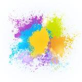 Van het de Kleurenfestival van de verfplons van de de Vakantie Traditionele Viering van Holi India Gelukkige de Groetkar vector illustratie