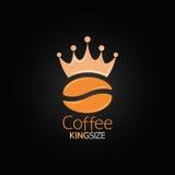 Van het de kroonontwerp van de koffieboon het menuachtergrond royalty-vrije illustratie