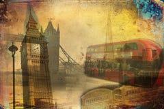 Van het de kunstontwerp van Londen retro de illustratiewijnoogst Stock Fotografie