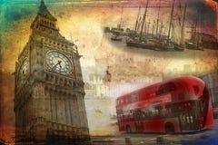 Van het de kunstontwerp van Londen retro de illustratiewijnoogst Royalty-vrije Stock Foto