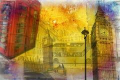 Van het de kunstontwerp van Londen retro de illustratiewijnoogst Royalty-vrije Stock Afbeelding