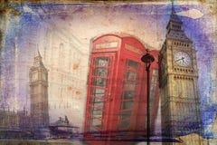 Van het de kunstontwerp van Londen retro de illustratiewijnoogst Stock Afbeeldingen