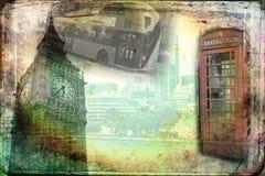 Van het de kunstontwerp van Londen retro de illustratiewijnoogst Royalty-vrije Stock Afbeeldingen
