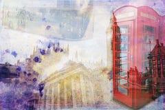 Van het de kunstontwerp van Londen retro de illustratiewijnoogst Stock Afbeelding