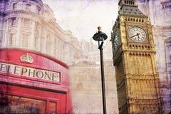 Van het de kunstontwerp van Londen retro de illustratiewijnoogst Royalty-vrije Stock Fotografie