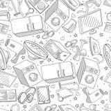 Van het de kunstontwerp van de elektronika de naadloze lijn vectorillustratie Stock Foto's