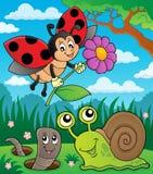 Van het de lentedieren en insect themabeeld 8 royalty-vrije illustratie