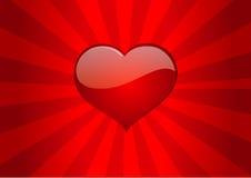 Van het de liefdehart van het liefdehart vector de valentijnskaartvector Royalty-vrije Stock Foto's