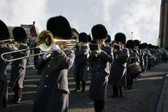 Van het de lood de 1st bataljon van de band Ierse Wachten Stock Fotografie