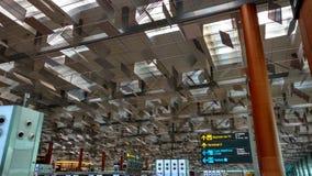 Van het de Luchthaven het Unieke Dak van Singapore Changi Hoogste Ontwerp Stock Afbeelding
