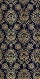 Van het de luxe het vector naadloze patroon van het damastontwerp bloemrijke goud royalty-vrije illustratie