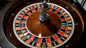 Van het de machinecasino van het roulettewiel de bewegende lengte stock footage