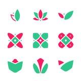 Van het de Marktsymbol het Creative Company Bloemenornament van de decoratiebloem Vectorpictogram EPS10 Royalty-vrije Stock Fotografie
