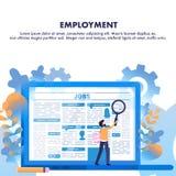 Van het de Mensengezoem van het baanzoeken het Artikel van de de Werkgelegenheidskrant royalty-vrije illustratie