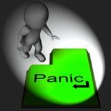 Van het de Middelenalarm van het paniektoetsenbord de Nood en de Ontzetting vector illustratie