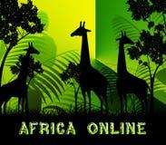 Van het de Middelenwild van Afrika Online de Reserve 3d Illustratie stock illustratie
