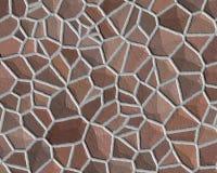 Van het de muurpatroon van de steen ruwe bruin vector illustratie