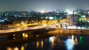 Van het de nachtverkeer van Kaïro de tijdtijdspanne stock footage