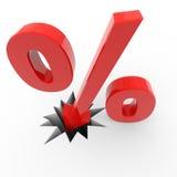 Van het de percententeken van de korting de brekende vloer. Royalty-vrije Stock Fotografie