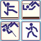 Van het de pictogrammenpolsstokspringen van de zomersporten de pictogrammen Vectorpictogrammen voor digitale en drukprojecten Stock Fotografie