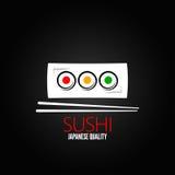 Van het de plaatmenu van het sushibroodje het ontwerpachtergrond Royalty-vrije Stock Fotografie