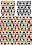 Van het de poppenkonijn van Japan van de de Kimonosymmetrie het naadloze patroon royalty-vrije illustratie