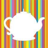 Van het de pottenmenu van de thee de grappige achtergrond Stock Afbeeldingen
