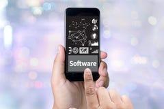Van het de Programma'ssysteem van softwaregegevens Digitale de Technologiecomputer Royalty-vrije Stock Afbeelding