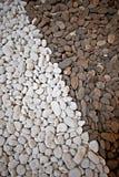 Van het de puinkegelgrint van de aard bruine witte textuur het gruissteen Stock Afbeeldingen