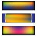 Van het de Regenboogtitanium van metaalchrome het Webbanner Royalty-vrije Stock Foto