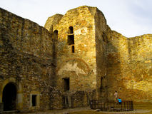 Van het de rotsenfort van Cetateaneamtului de vesting moldova Stock Afbeeldingen