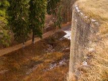 Van het de rotsenfort van Cetateaneamtului de vesting moldova Stock Foto