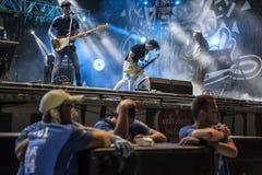Van het de Rotsfestival van Woodstockpolen de organisatoren en de uitvoerders royalty-vrije stock foto's