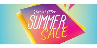 Van het de rubriekontwerp van de de zomerverkoop de kleurrijke scherpe vorm voor banner of po Royalty-vrije Stock Fotografie