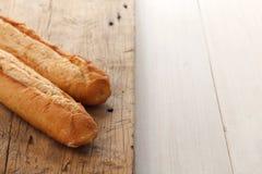 Van het de samenstellings boterkruid van het knoflookbrood van de baguettethyme orega van de de rozemarijnkoriander Royalty-vrije Stock Fotografie