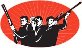 Van het de schuttergeweer van de jager de fotograafcamera Royalty-vrije Stock Fotografie