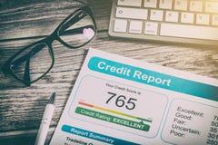 Van het de scorebankwezen van het rapportkrediet vorm van het de toepassingsrisico de lenende Royalty-vrije Stock Afbeelding