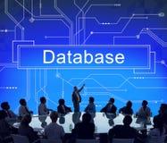Van het de Servernetwerk van het gegevensbestandsysteem het Concept van de Informatiegegevens Stock Afbeelding