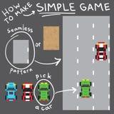 Van het de stijl de eenvoudige spel van de pixelkunst vector geplaatste voorwerpen Royalty-vrije Stock Afbeelding