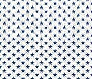 Van het de stijl de naadloze patroon van de V.S. blauwe sterren op witte achtergrond stock illustratie