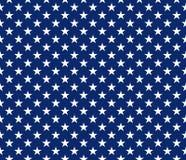 Van het de stijl de naadloze patroon van de V.S. witte sterren op blauwe achtergrond vector illustratie