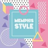 Van het de stijlpatroon van Memphis de banner geometrisch abstract ontwerp Royalty-vrije Stock Afbeelding