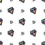 Van het de stijlpixel van de achtergrondmanierdiamant de kunst naadloos patroon stock illustratie