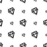 Van het de stijlpixel van de achtergrondmanierdiamant de kunst naadloos patroon royalty-vrije illustratie