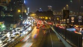 Van het de Straatspitsuur van Kaïro Corniche de tijdspanne van de het verkeerstijd stock video